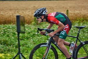 Evan competing at Church Creek TT